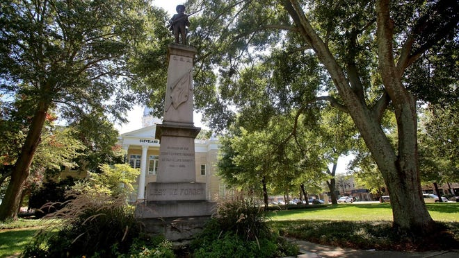 A group of people have petitioned to remove the Confederate statue on the court square in uptown Shelby.
