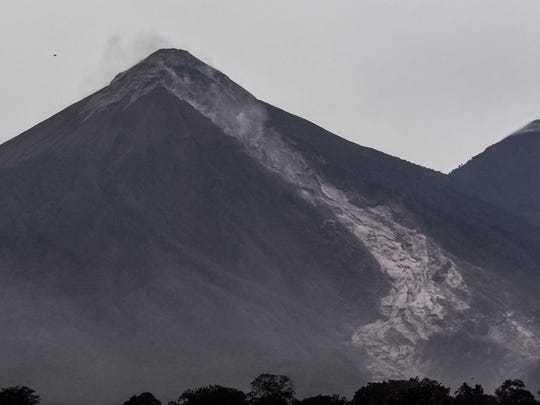 Picture of the Fuego Volcano taken from San Miguel