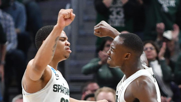 Bridges fires up Spartans teammates in first-round win