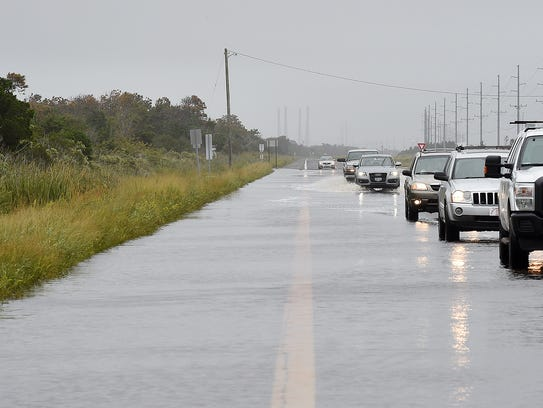 Coastal Highway (Del. 1) south of Dewey Beach  closed