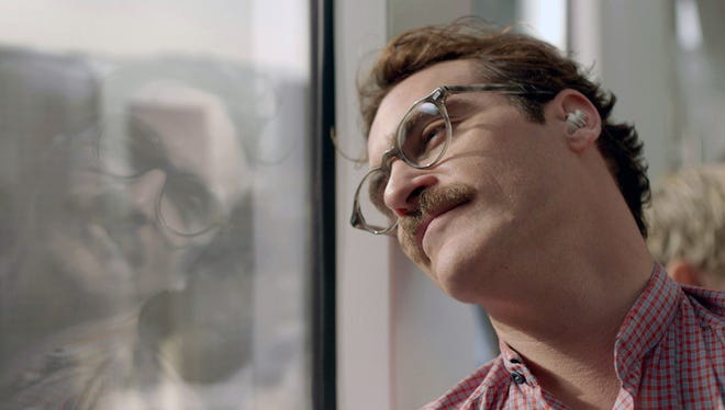 Joaquin Phoenix plays a man in love with his operating system in 'Her.'