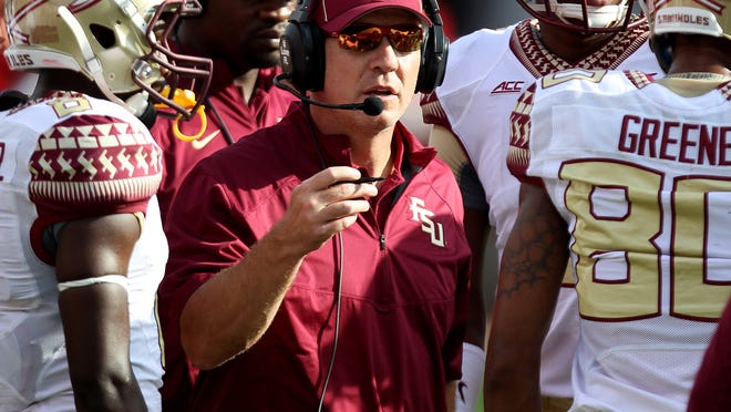FSU coach Jimbo Fisher said 'anybody can beat anybody in college football right now' after defending his team and the ACC on Monday.
