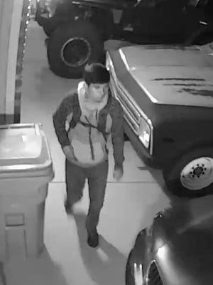Surveillance footage captured a suspect in a string of vehicle break-ins in Wellington in July.