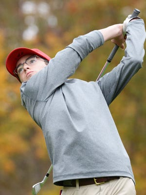 Bridgewater-Raynham's Justin Peters, during the SEC golf tourney on Monday, Oct. 26, 2020 at  Thorny Lea Golf Club.