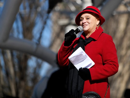 Oralene Simmons speaks at the Martin Luther King Jr.