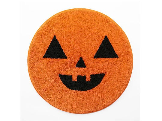 Pumpkin bath mat.