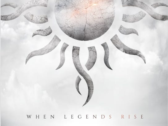"The cover of Godsmack's new album, ""When Legends Rise"""