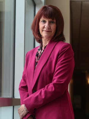 Michele Finney, the new CEO overseeing Tenet's three-hospital desert market on Wednesday, March 22, 2017 at Desert Regional Medical Center in Palm Springs.