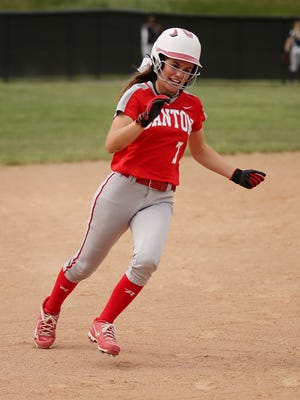 Running the bases during a 2016 game is Canton's Sydney Dawson.