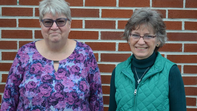 The Rev. Janine Dress, left, chairwoman of the Danbury Food Pantry, has been volunteering with the pantry since its inception in 1983. Jan Hirt, right, the group's volunteer treasurer, joined about 20 years ago.