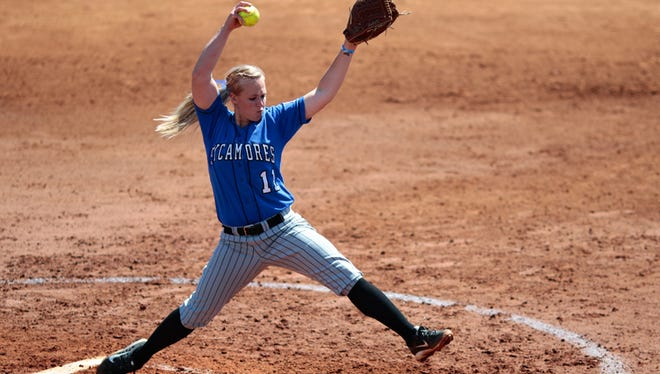 Indiana StateÕs Taylor Lockwood is a softball pitcher from Southport.