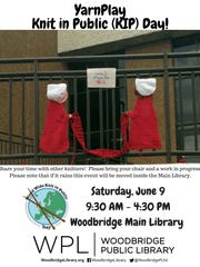 WWKIP DAY (World Wide Knit in Public Day) will be held on Saturday, June 9 at the Woodbridge Main Library.