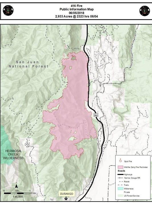 National Fire Map 2018.Durango Blaze Grows Still 10 Percent Contained