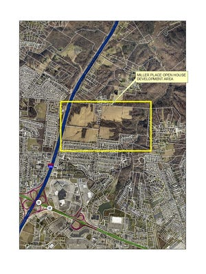 """Map of proposed """"Miller Place"""" development in Union Township."""