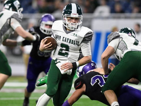 Grand Rapids West Catholic quarterback Gaetano Vallone