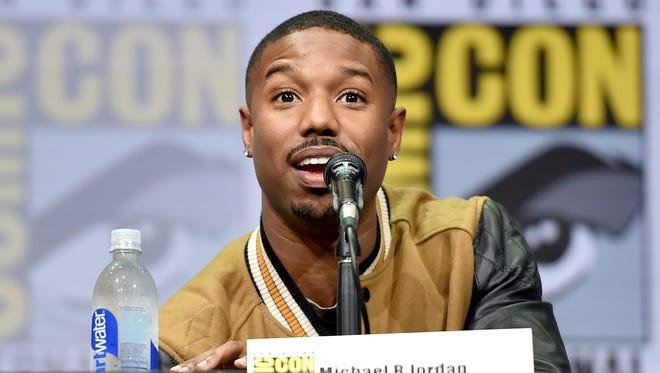 Michael B. Jordan spoke at Comic Con.