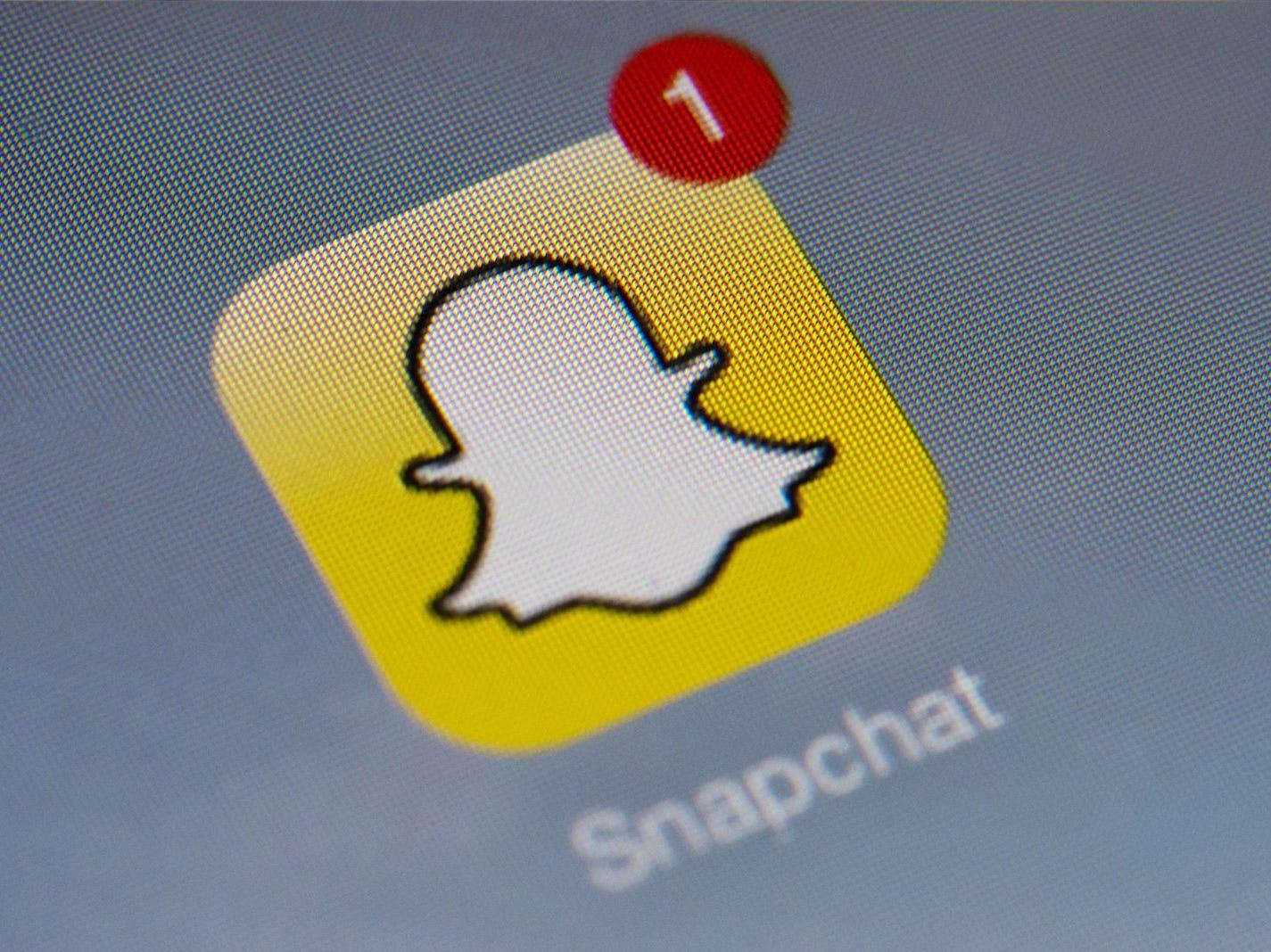 The logo of mobile app Snapchat.
