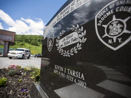 A memorial honoring late Deputy Kevin J. Tarsia at
