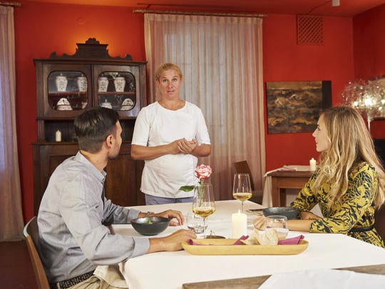 In September, Ana Ros greets guests at Hisa Franko in the village of Kobarid. Ros heads the kitchen and husband Valter Kramar is the resident cheese and wine expert at the inn and restaurant on the small farm.