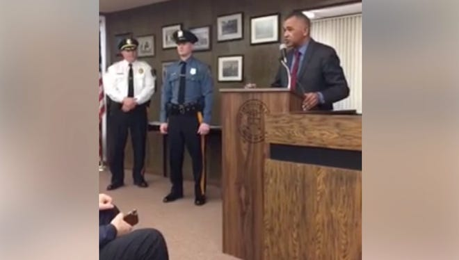 The City Commission welcomed the newest member of the city's police department, swearing in Tyler Joshua Menz at its meeting Tuesday night.