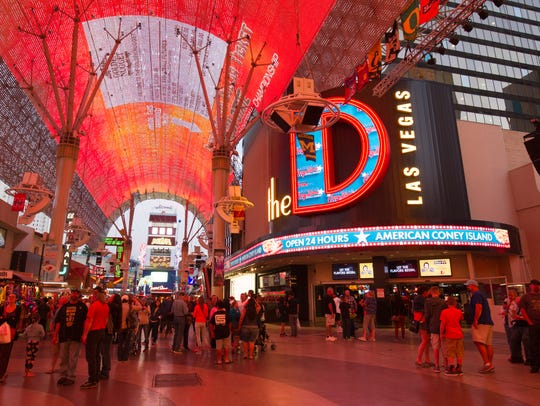 Find The D Las Vegas right inside the Fremont Street