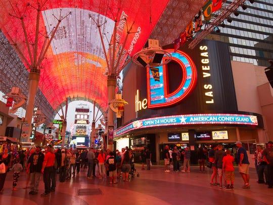 Find The D Las Vegas Right Inside Fremont Street