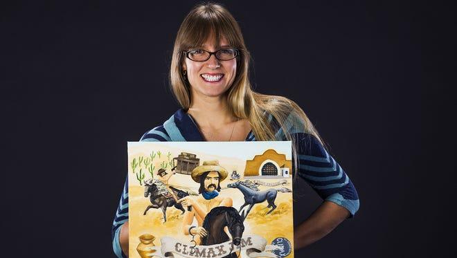 "Rachel Srinivasan from Tempe created her piece, ""Climax Jim."""