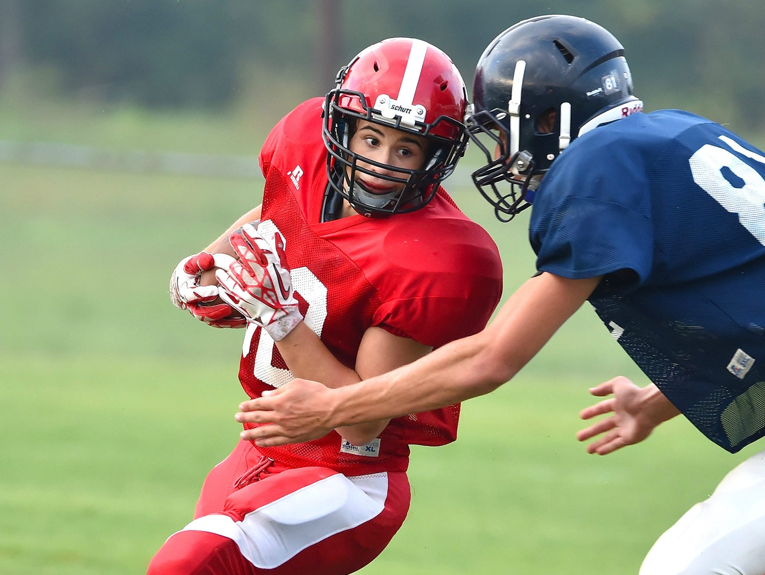 Jo Byrns running back Mikey Chennault (left) has rushed for 1,038 yards and 11 TDs this season.
