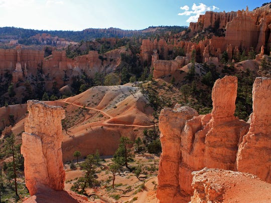 The hoodoos at Bryce Canyon National Park in Bryce Canyon, Utah.