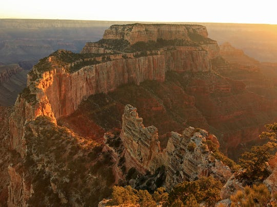 A photo of one of the cliffs at Grand Canyon National Park in Arizona.