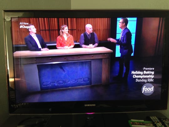 "Food Network's ""Chopped"" judges (L-R) Mark Murphy,"