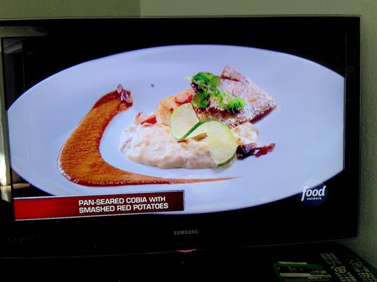 Fernando Ruiz's entree: Pan-seared cobia with smashed