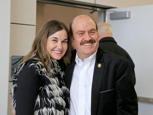 Cedar City Mayor Maile Wilson and R. Scott Phillips,
