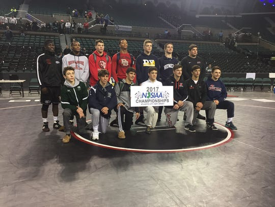 State wrestling tournament, champions: Delsea's Bill