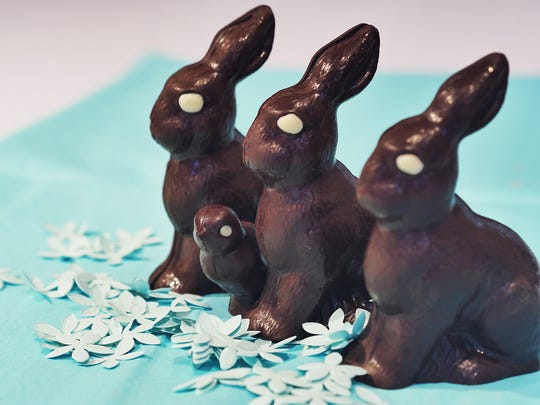 Chocolate bunnies from Blue Tulip.