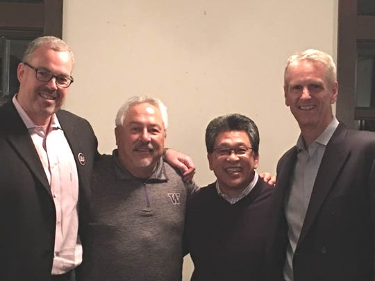 Pasatiempo with Don Dow, Chuck Stark and Ray Pinney at a recent Kitsap Athletic Roundtable meeting.