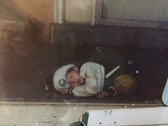 From the time he was little, Sean McDermott played hard. Here he is, fast asleep dressed in Philadelphia Eagles attire after a long day of playing.