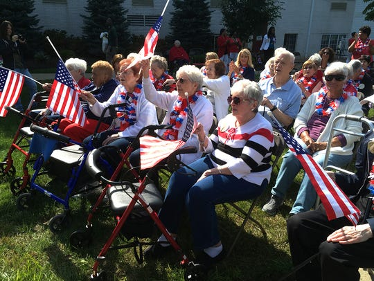 Residents gathered for a 9-11 remembrance at Chelsea