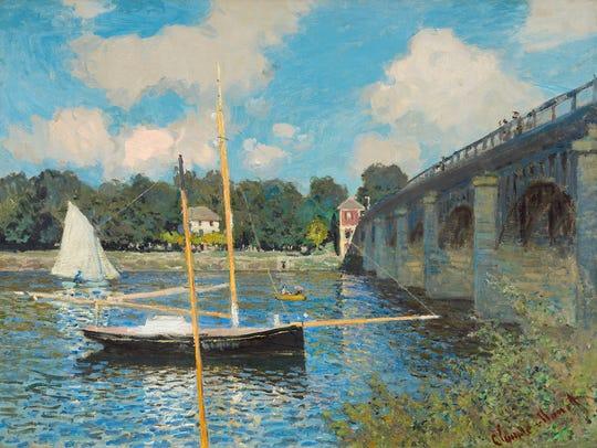 """Claude Monet's """"The Bridge at Argenteuil,"""" 1874, oil"""