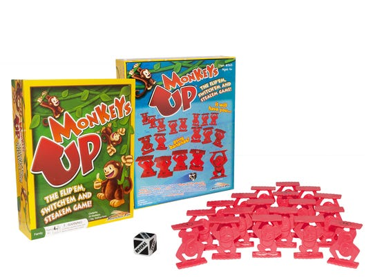 These 45 toys and products have earned the NAPPA seal of approval in 2017. Pictured is the Monkeys Up Board Game.