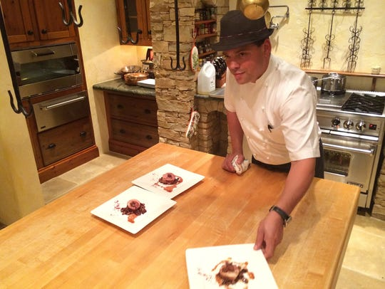 Chef Pyro Rodriguez presenting A-9 Wagyu at Southwest