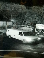 Brick police say this white van was used to steal copper pipe