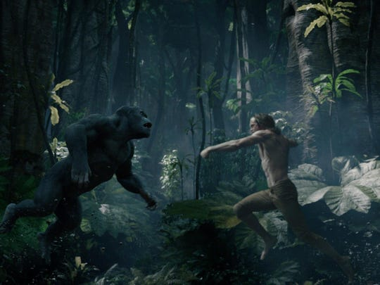 "Tarzan (Alexander Skarsgård) returns to the jungle in ""The Legend of Tarzan."""