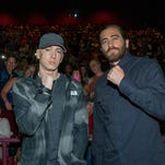 """Eminem and Jake Gyllenhaal appeared at an advance screening of the film """"Southpaw"""" at the AMC Livonia 20 on Sunday, July 19. 2015."""