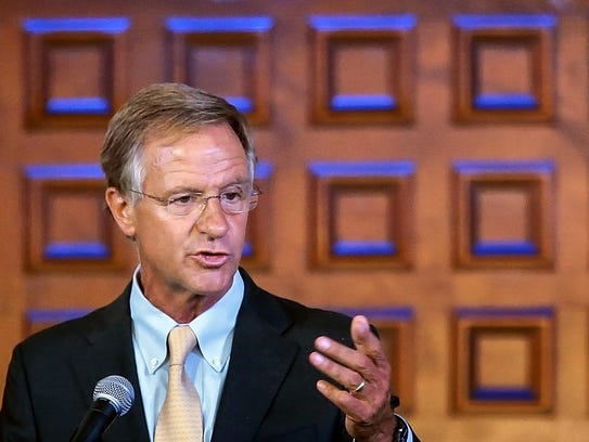 Tennessee Gov Bill Haslam says that tourists spent
