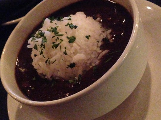 Charley G's smoked duck and andouille gumbo