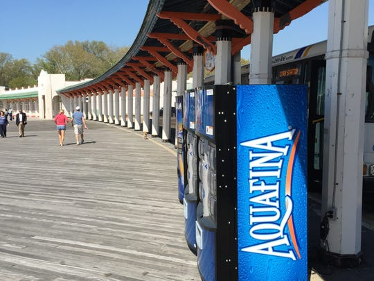 Vending machines on the Playland boardwalk, where some visitors might expect to see the Zoltar Speaks machine from the 1988 movie 'Big,' starring Tom Hanks.
