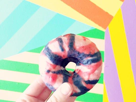Berry Djonut ($3, doughnut) from Kapes Cafe.