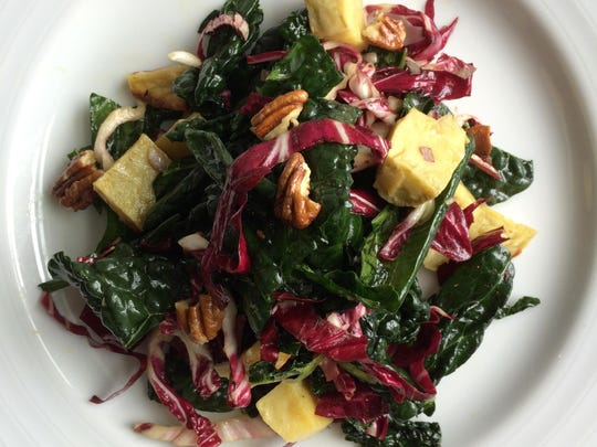 Marcy Ragan's quinoa, toasted hazelnut and apple salad.
