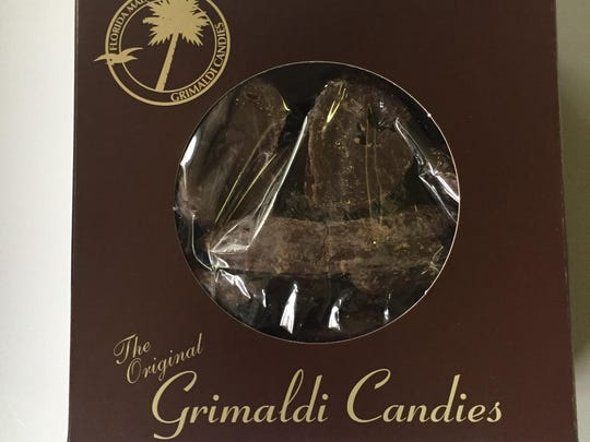 Instead of chocolate-covered potato chips, give chocolate-covered citrus peels. Anyone who has spent any time at all on the Space Coast knows about the sweet, salty goodness of Grimaldi Candy Co.'s chocolate-covered potato chips. But have you every tried the citrus peels? For $10.95, you can give 10 ounces of chocolate-covered sunshine, in the form of candied orange peels. Grimaldi chocolates are sold at 3006 U.S. 1, Rockledge, 321-638-0702; 1916 Waverly Place, Melbourne, 321-724-0535; and 4 Harrison St., Cocoa Village, 321-301-4794.